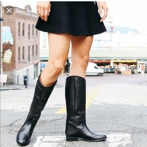 {FRYE} Melissa Button 2 Knee High Riding Boot
